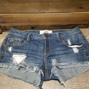 Hollister Women's Fringe Jean Shorts